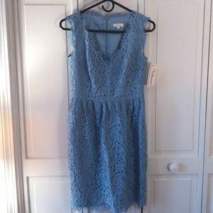 Shoshanna - blue lace mini
